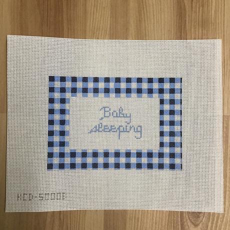 Canvas GINGHAM BABY SLEEPING - BLUE KCD5000B