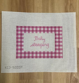 Canvas GINGHAM BABY SLEEPING -PINK KCD5000P