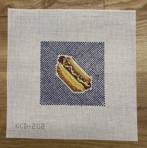 Canvas HOT DOG ON BLUE  KCD2112