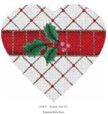 Canvas DIAMOND HOLLY HEART  2190G