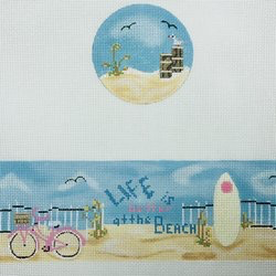 Canvas BEACH LIFE HINGED BOX  WITH HARDWARE FSR24