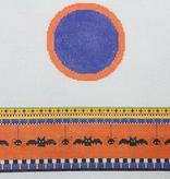 Canvas HALLOWEEN BATS HINGED BOX  WITH HARDWARE FSR59