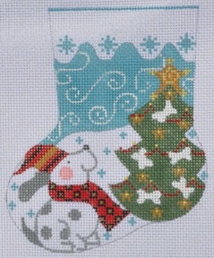 Canvas DOG MINI STOCKING CH236