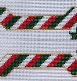 Canvas CHRISTMAS STRIPES BONE  ORNAMENT BP13