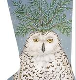 Canvas SNOWY OWL STOCKING  VS190