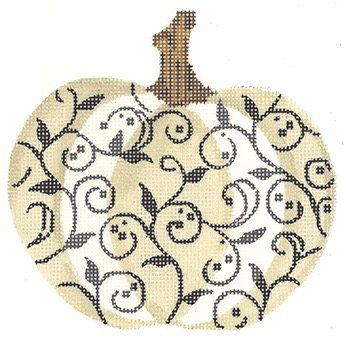 Canvas IVORY AND CHARCOAL SCROLL PUMPKIN  KCKCN1563