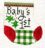Canvas BABY 1ST WEE STOCKING D22
