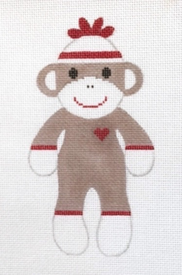 Canvas SOCK MONKEY - LARGE ORIGINAL  SML1