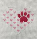 Canvas HEART - PAW PRINT  H5