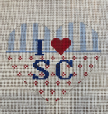 Canvas HEART - I LUV SC  H6