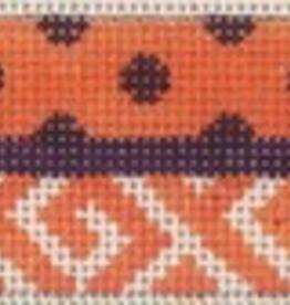 Canvas WIDE CUFF BRACELET - CLEMSON<br /> INCLUDES SILVER CUFF  HARDWARE  C12