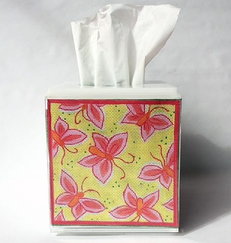 Canvas PALM TREES TISSUE BOX INSERT  ALL02