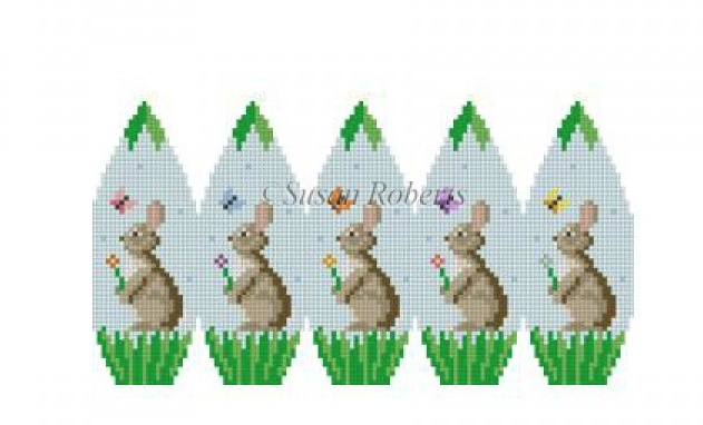 Canvas BUNNIES AND BUTTERFLIES, 3D STAND-UP EGG  0428