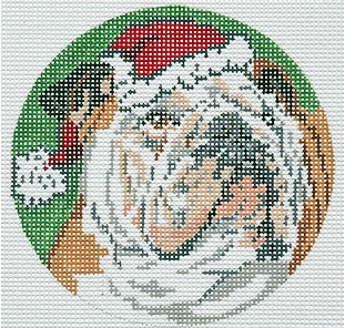 Canvas BULLDOG ORNAMENT  BR335