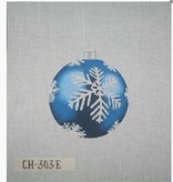 Canvas CHRISTMAS BALL BLUE SNOWFLAKE  CH303E