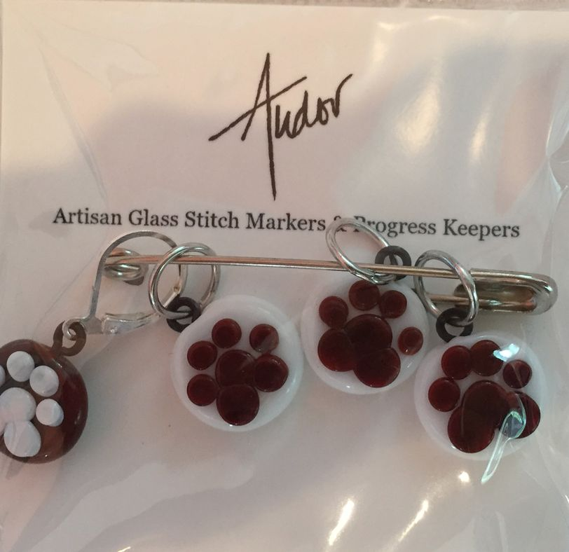 Accessories TUDOR GLASS STITCH MARKERS - SET OF 4