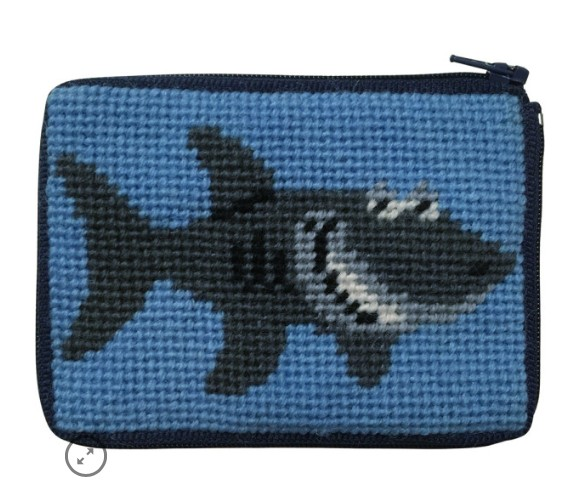 Canvas SHARK COIN PURSE  SZ8103