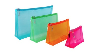 Accessories SMALL MESH GUSSET CASE<br /> 4X5X2