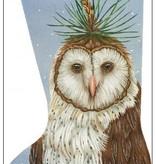 Canvas PINE OWL STOCKING  VS223