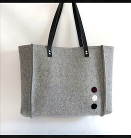 Accessories SMALL 2 PANEL JULIAHILBRANDT INDUSTRIAL FELT TOTE WITH SPRINKLE DOTS