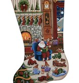 Canvas BEDTIMES STORIES STOCKING  1380