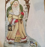 Canvas IVORY SANTA STOCKING  GE712