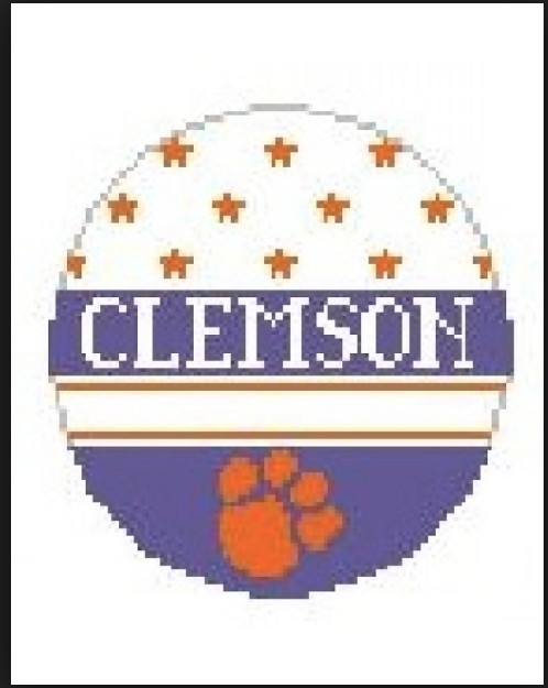 Canvas CLEMSON ORNAMENT  BT318