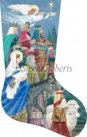 Canvas NATIVITY II STOCKING  TTAXS375