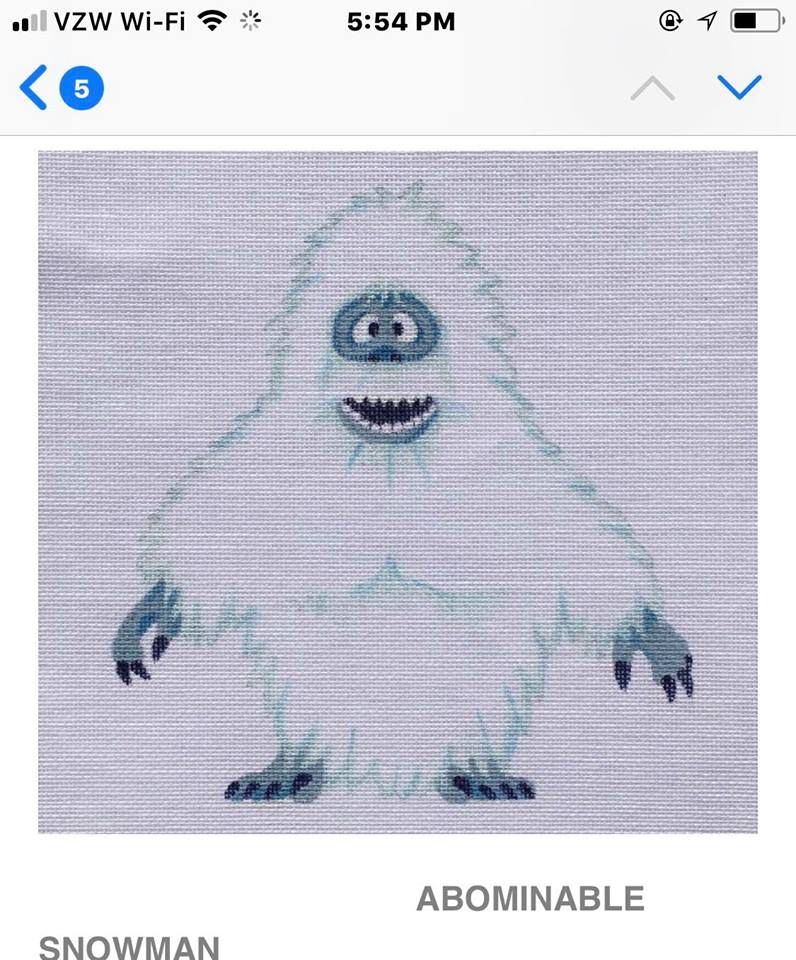"Canvas ABOMINABLE SNOWMAN STANDING 8""  HO1625"