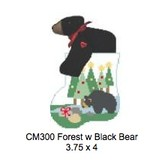 Canvas BEAR AND TREES WITH BLACK BEAR  CM300
