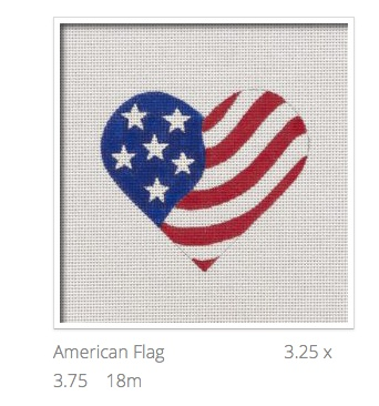 Canvas AMERICAN FLAG HEART  HT11