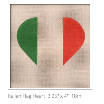 Canvas ITALIAN FLAG HEART  HT18
