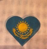 Canvas KAZAKHSTAN FLAG HEART  HT29
