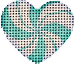 Canvas PEPPERMINT SWIRL MINI AQUA HEART  HE668A