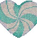 Canvas PEPPERMINT SWIRL MINI PINK HEART  HE668P