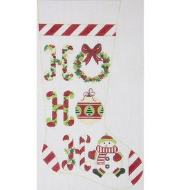 Canvas HO HO HO STOCKING  2418