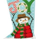 Canvas SNOWMAN JOY STOCKING  2898