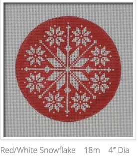 Canvas RED WHITE SNOWFLAKE  NOR02