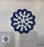 Canvas SCALLOPED BLUE SNOWFLAKE  SF06