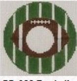 Canvas FOOTBALL MONOGRAM ROUND 088