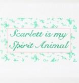 Canvas SCARLETT IS MY SPIRIT ANIMAL  LOS43