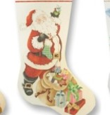 Canvas SANTA WITH PACKAGES  XS2390