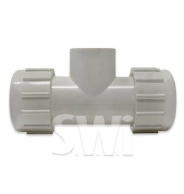 "KBI 1"" Compression Coupling Tee X 1"" FPT"
