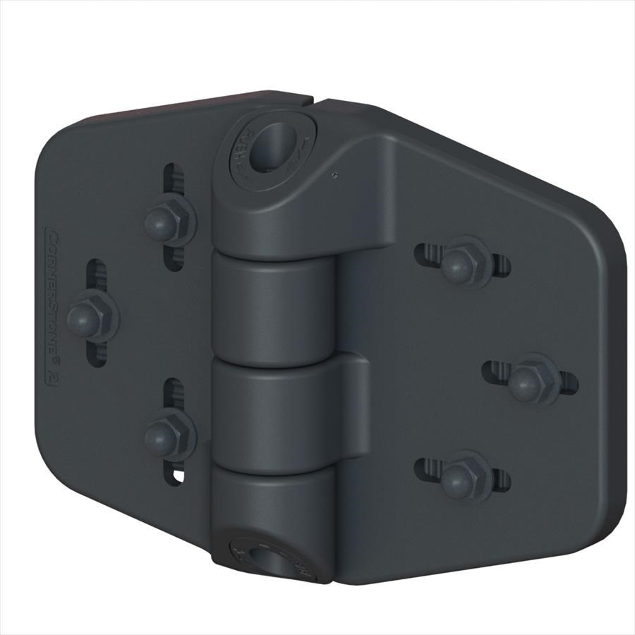 NATIONWIDE INDUSTRIES CORNERSTONE HINGE - SPRING LOADED (BLACK)
