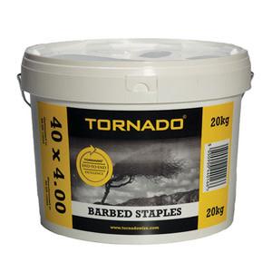 """Tornado Wire Tornado Barbed Staples 1 3/4"""" 10LB bucket"""