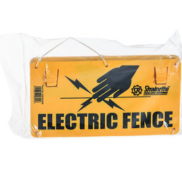 STRAINRITE Electric Fence Warning Signs Bundle of 10