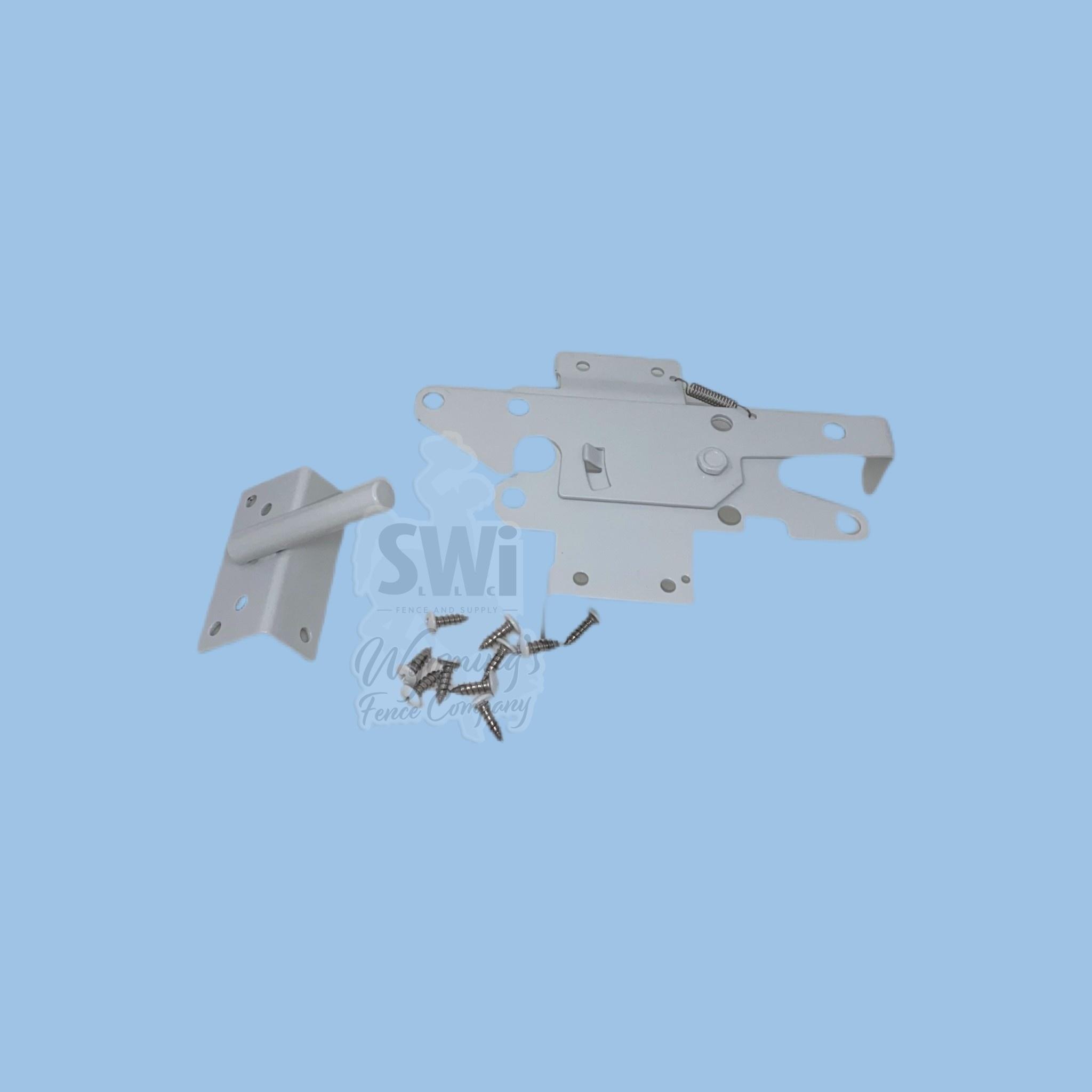 STAINLESS STEEL VINYL GATE LATCH- WHITE