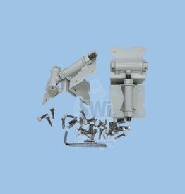 """NATIONWIDE INDUSTRIES 3"""" X 3"""" SS HINGE - SPRING LOADED (White)"""
