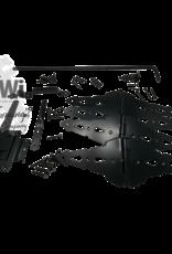 WESTERN GATE HARWARE SET BLACK - DOUBLE DRIVE