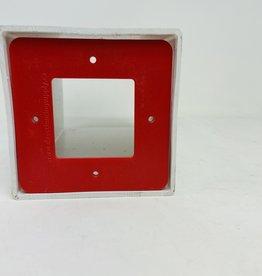 "RED 5"" SQUARE VINYL RAIL LOCK"
